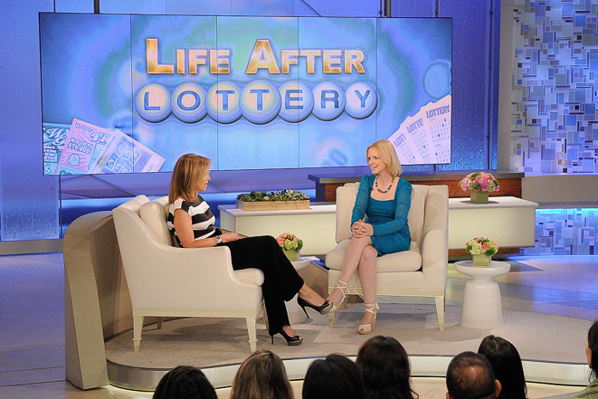 KATIE - Lottery winners talk about how their lives have changed, on KATIE, distributed by Disney-ABC Domestic Television. (Disney-ABC/ Lorenzo Bevilaqua) KATIE COURIC, SHIRLEY PRESS